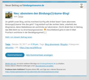 Bindungs(t)räume-Blog Benachrichtigung